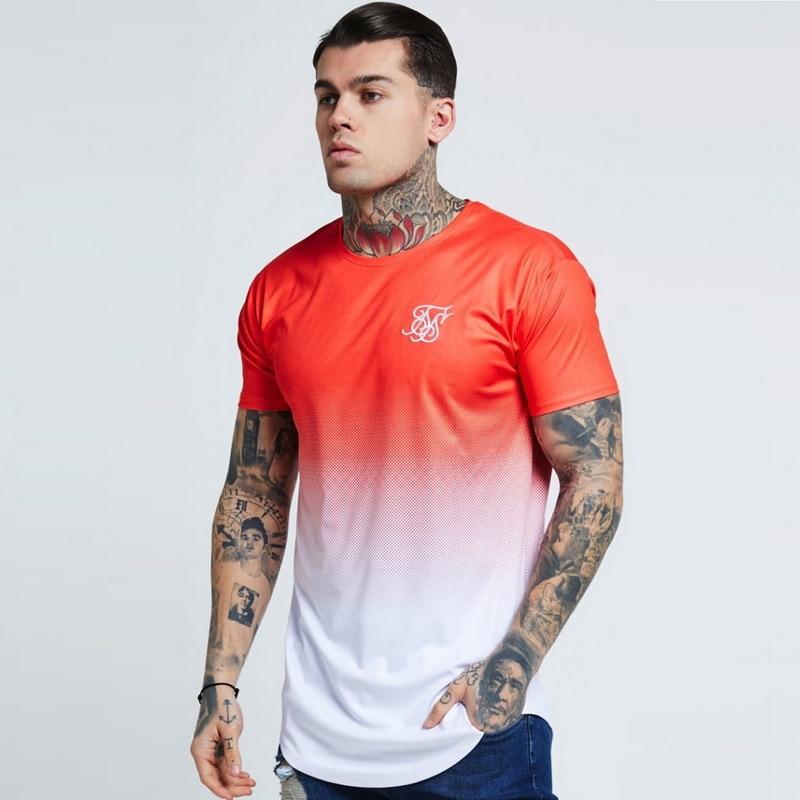 2020 Fashion Brand Sik SIlk Men's Short Sleeve T Shirt Spring O Neck Siksilk T Shirt Men Hot Sale Plus Size Top Tees Shirts