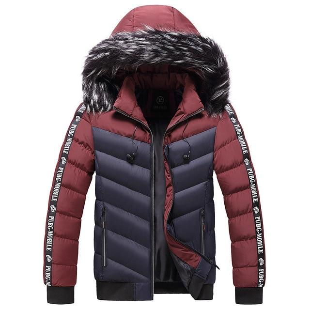 Winter Jacket Men 2021 Fur Collar Hooded Thick Warm Cotton Outwear Man Patchwork Parka and Coats Windbreaker Parkas Male M-5XL 5