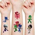 5 шт наклеек костюмы героев мультфильма «Герои в масках», стикер татуировки детское платье для дня рождения вечерние украшения Acnime рисунок ...