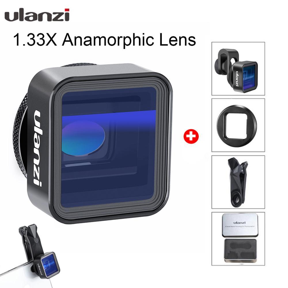 Ulanzi Anamorphic Lens Voor Iphone 11 Pro 1.33X Wide Screen Video Breedbeeld Slr Film Videomaker Filmmaker Universal Phone Lens