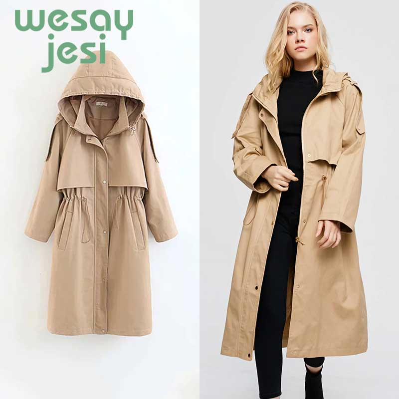 Trench   coat 2019 New Arrival Women Autumn casual Turn-down Collar Fashion Female Outwear Coat Long Winter   Trench   women