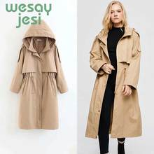 Trench coat 2019 New Arrival Women Autumn casual Turn-down Collar Fashion Female Outwear Coat Long Winter Trench women стоимость