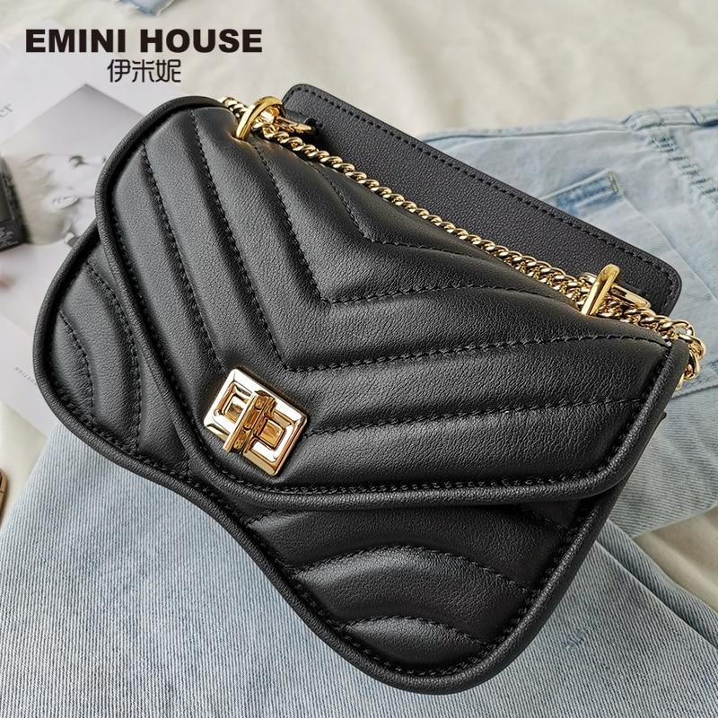 EMINI maison mode chaîne sac à bandoulière sacs pour femmes en cuir véritable sac à bandoulière luxe sacs à main femmes sacs Designer - 6