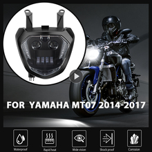 KEMiMOTO لياماها MT07 المصباح MT 07 LED مصباح DRL FZ07 2014 2015 2016 2017 دراجة نارية المصباح MT07 110 واط 12 فولت