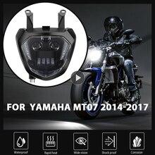 KEMiMOTOสำหรับYAMAHA MT07ไฟหน้าMT 07 LED DRL FZ07 2014 2015 2016 2017ไฟหน้ารถจักรยานยนต์MT07 110W 12V