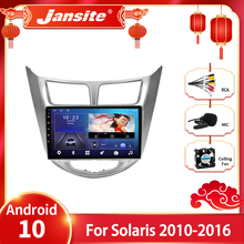 Jansite Android 10,0 Auto Radio für Hyundai Solaris Verna Accent i25 2010-2016 Multimidia Video Player GPS Navigaion Split bildschirm