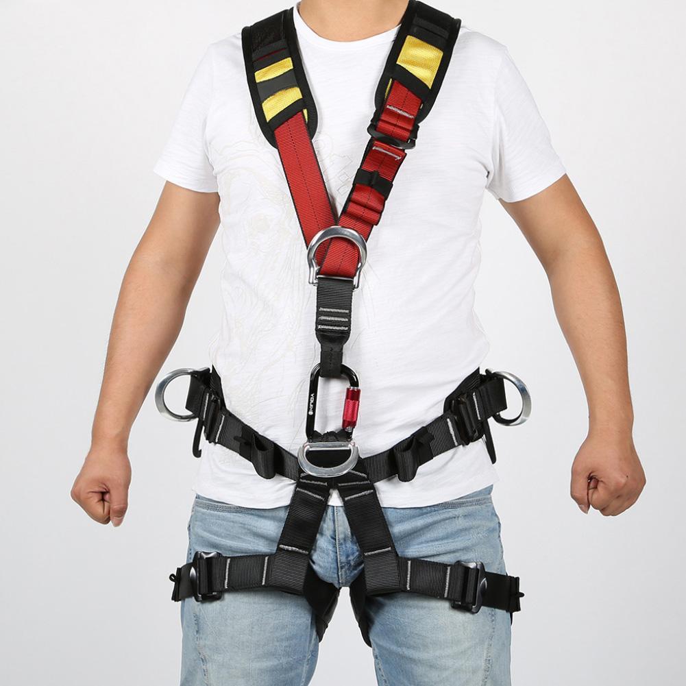 Profession Outdoor Rock Climbing Aerial Work Rappelling Shoulder Safety Belt Rock Climbing Harness Half Body Survival Equipment