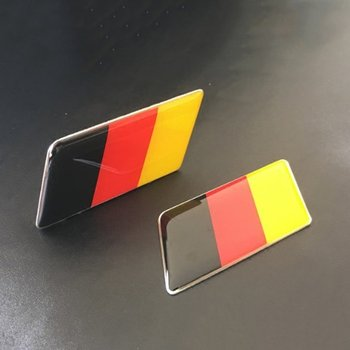 Germany Flag Logo Emblem Badge Decoration Car Stickers Decorating Accessories for golf for Volkswagen image