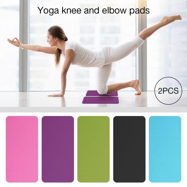 2 Teile/satz Yoga Knie Pad Matte Elbow Kissen Knie Protector Anti-slip Matten für Pilates Boden Workouts Nicht-slip Yoga Kneepad 1