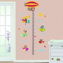 Наклейки на график роста детей, Мультяшные наклейки для измерения высоты, наклейки на стену, декор для детской комнаты, наклейки на стену