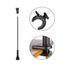 Soporte giratorio para secador de pelo manos libres, 360 grados, mesa de aseo de tres mandíbulas