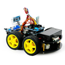 DIY Obstacle Avoidance Smart Programmable Robot Car Educational Learning Kit For Arduino UNO Interactive Game Educational Toys(China)