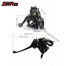 TDPRO New Front 7/8 Thumb Throttle Brake Lever Assembly For 22mm Handlebar 50cc 70cc 90cc 110cc 125cc ATV Quads Buggy 4 Wheeler