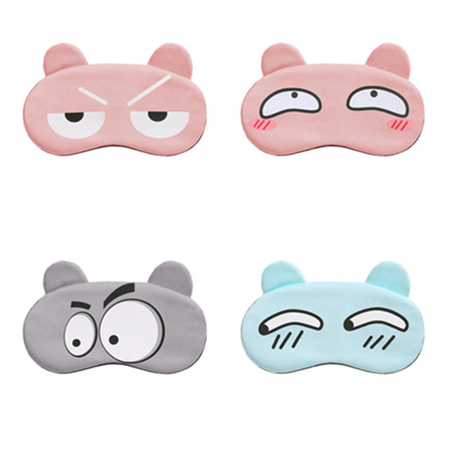 Cotton Cartoon Face Sleep Eye Mask Cute Funny Lovely Eye Cover Sleeping Mask Travel Rest Eye Band Kids Eye shade Patch Blindfold 1