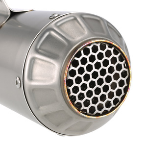 Image 5 - 51mm Frosted Exhaust Muffler Pipe with Net Tail Universal for Motorcycle ATV