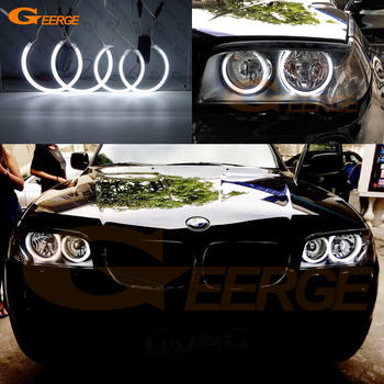 цена на Excellent Ultra bright ccfl angel eyes kit Halo Ring Car styling For BMW E83 X3 facelift 2007 2008 2009 2010 Halogen headlight