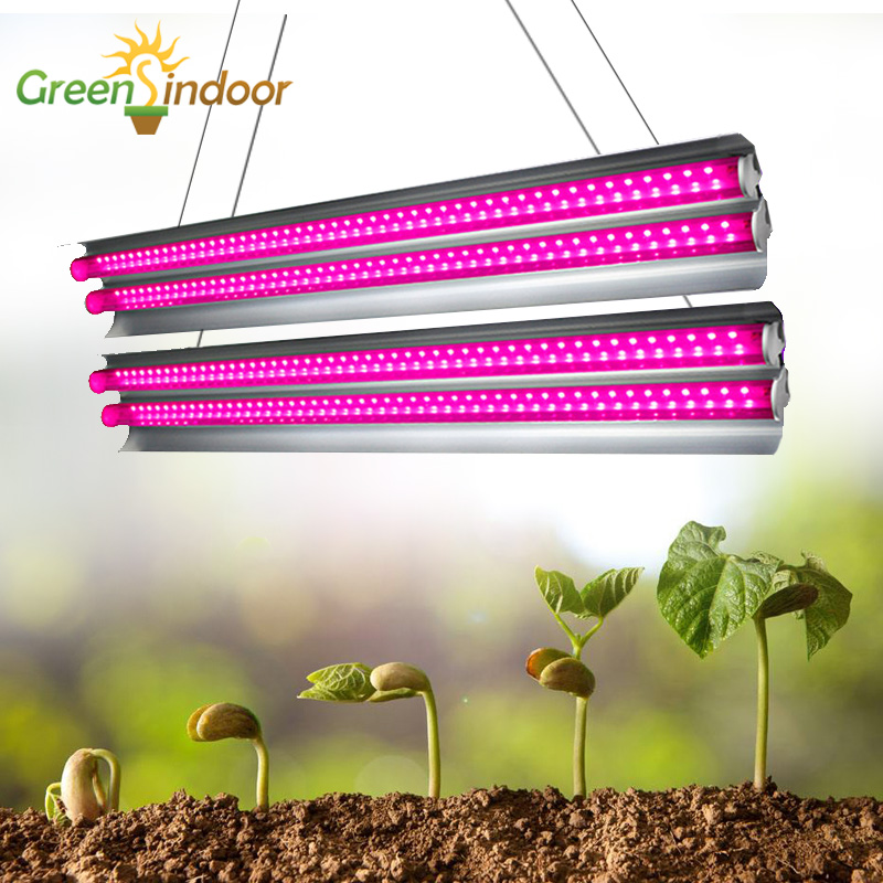 Indoor Led Grow Lights Strips 4pcs Phyto Lamp For Plants Full Spectrum Fitolampy T5 Growing Lamp For Flowers Led Grow Tent Lamps