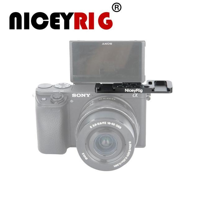 NICEYRIG สำหรับ Sony A6400 A6300 A6000 A6500 เย็นรองเท้าย้ายแผ่นด้านซ้ายสำหรับ Sony A6 Series