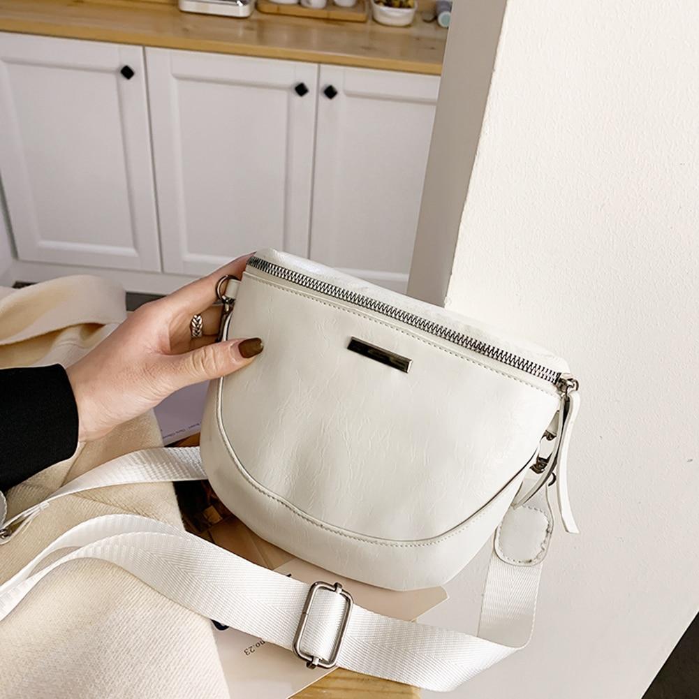 Women Chest Bag New Waist Packs Pure Color Shell Leather Messenger Shoulder Bag Fashion Phone Crossbody Money Fanny Chest Bags