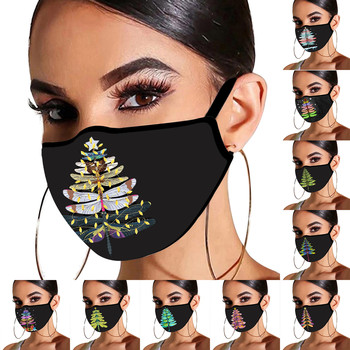1PCS Adult's Christmas Face Masks Breathable Safety Protect Face Mouth Cover Hanging Ears Washable Masque En Tissu Lavable#RU1 image