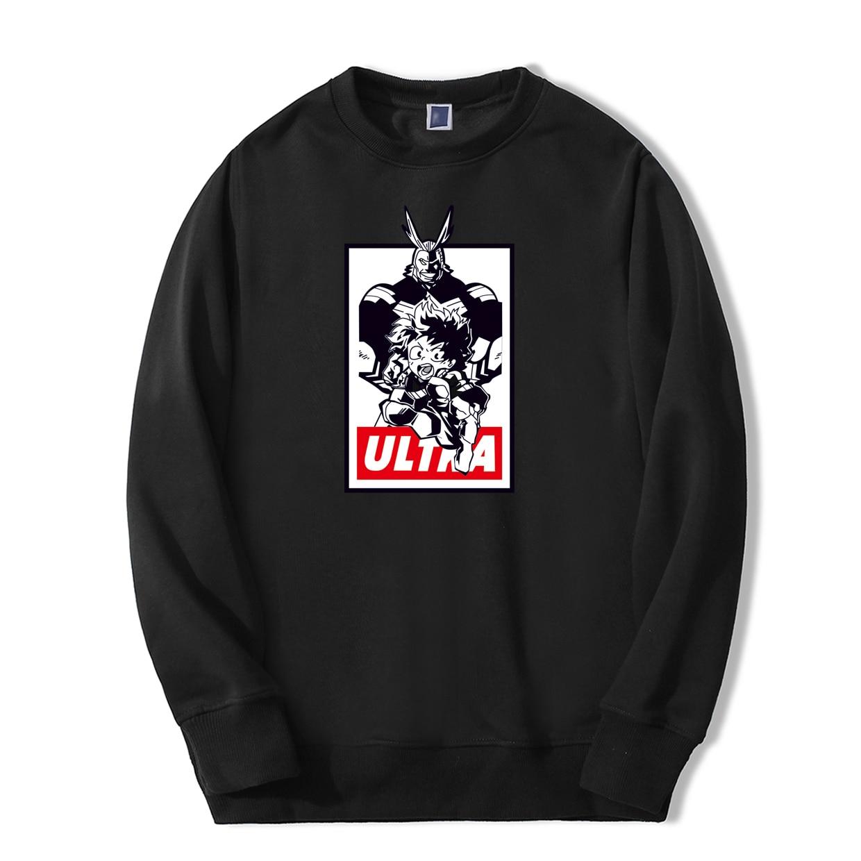 Deku All Might Print Sweatshirts For Men No Hero Academia One For All Japan Anime Hoodie Casual High Quality Harajuku Streetwear