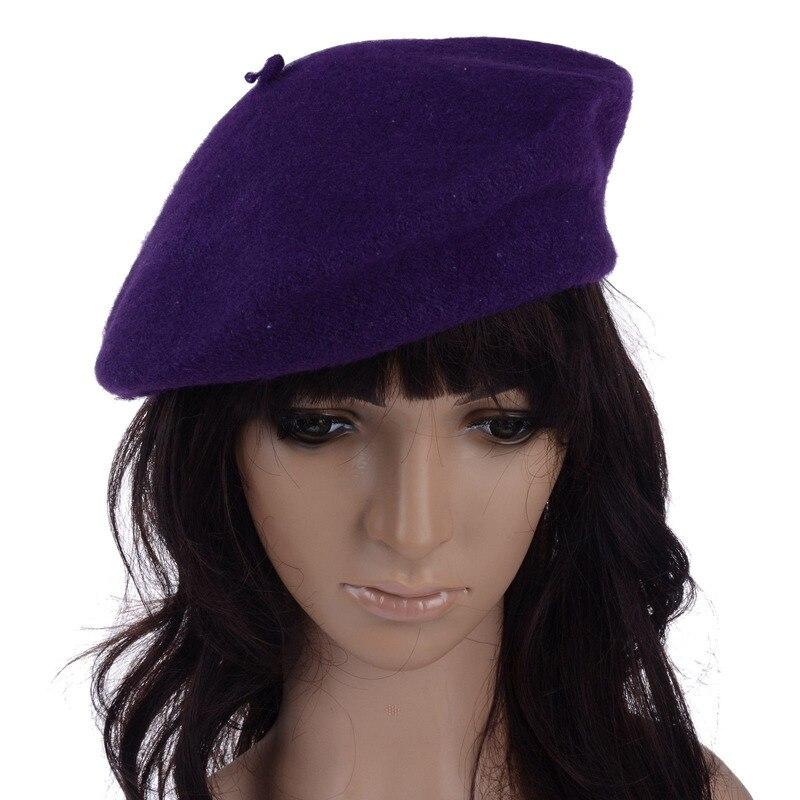 2019 Autumn Winter Fashion Women Berets Female Sweet Solid Warm Wool Hat French Artist Superstar Same Cap