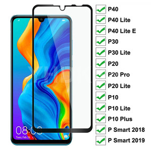 9D Protective Glass For Huawei P20 Pro P10 Lite Plus Screen Protector Glass P30 P40 Lite E P Smart 2019 Tempered Glass Film Case