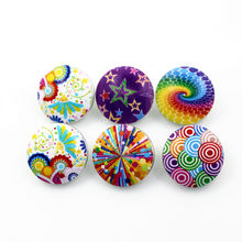 New 50pcs/lot Mix Painted Stars Rainbow Snap Buttons Fit 18mm Glass Buttons Snap Jewelry Bracelets&Bangles Diy Snap Jewelry(China)