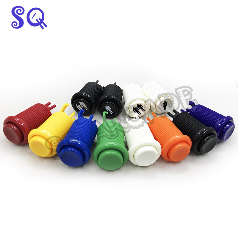 Happ аркадная мультиадресная Кнопка прочная Jamma игровой коммутатор прочная 8 clolors оранжевая фиолетовая 1 шт. Бесплатная доставка