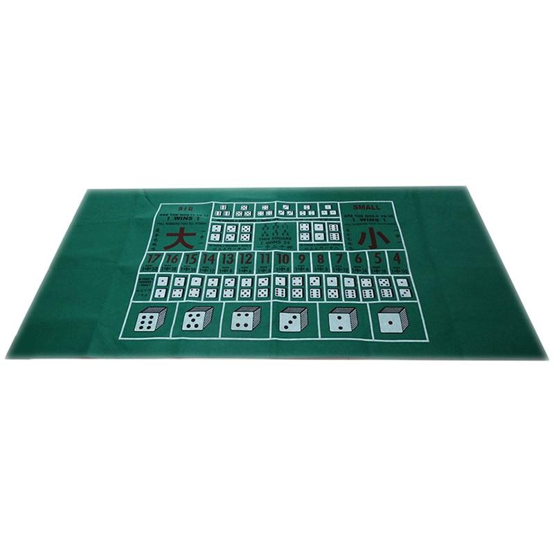 180X90Cm Poker Table Cloth Texas HoldEm Layouts Tablecloth Felt 10 Players Mat / Tapis
