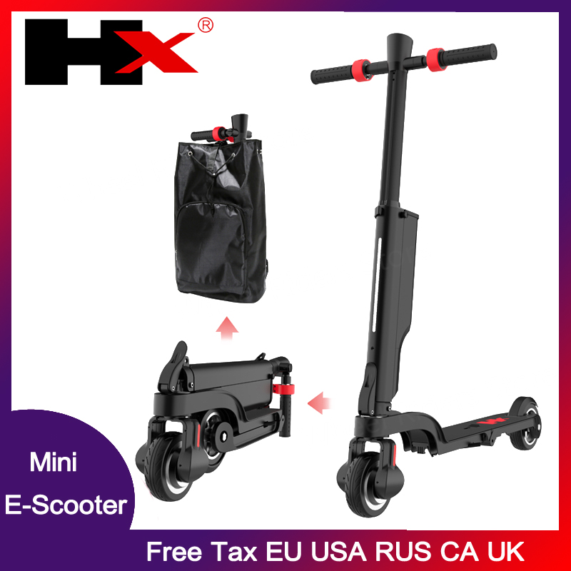 Folding HX X6 Electric  Skateboard scooter Bicycle Foldable Kick Scooter 6A Escooter with Shock Absorber with Bluetooth APP