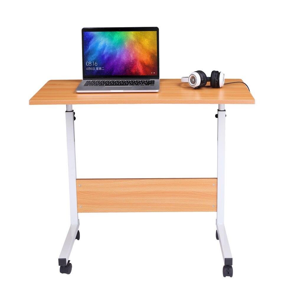 Bureau d'ordinateur Portable de grande taille déflecteur bureau polyvalent couleur hêtre hauteur réglable bureau d'ordinateur élégant