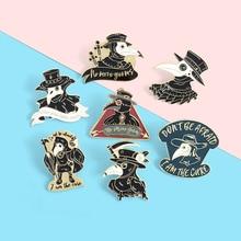 Plague Doctor Series Enamel Lapel Pins Horrible virus punk Brooches Badges Fashion Pins