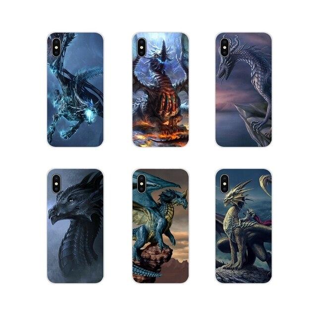Coque souple pochette Promotion bleu Dragon léger pour Sony Xperia XA1 XA2 XZ1 XZ2 Z1 Z2 Z2 Z3 compact M2 M4 M5 C6 L2 ULTRA Premium