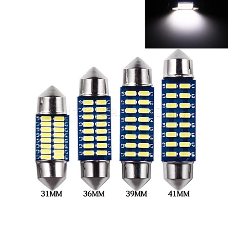 5x Festoon C5W 31 36 39 41mm LED araba ışıkları 3014 16SMD Dome ampul C10W Canbus oto plaka İç lamba okuma işığı 12V