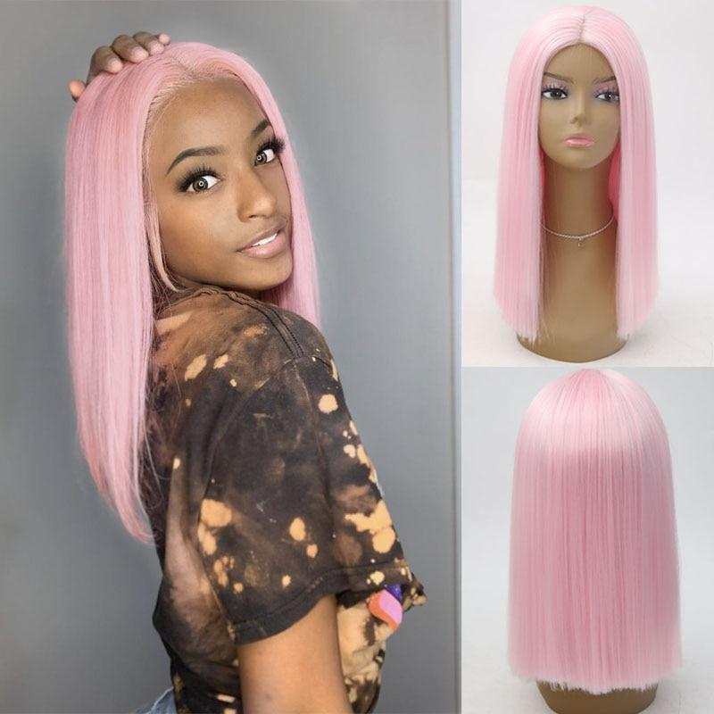 Charisma peruca cabelo curto, de alta temperatura sintético frontal peruca natural loira curta para mulheres