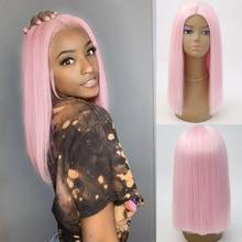 Харизма короткий парик высокотемпературные волосы синтетический кружевной передний парик натуральный прямой блонд парик короткий боб пар...