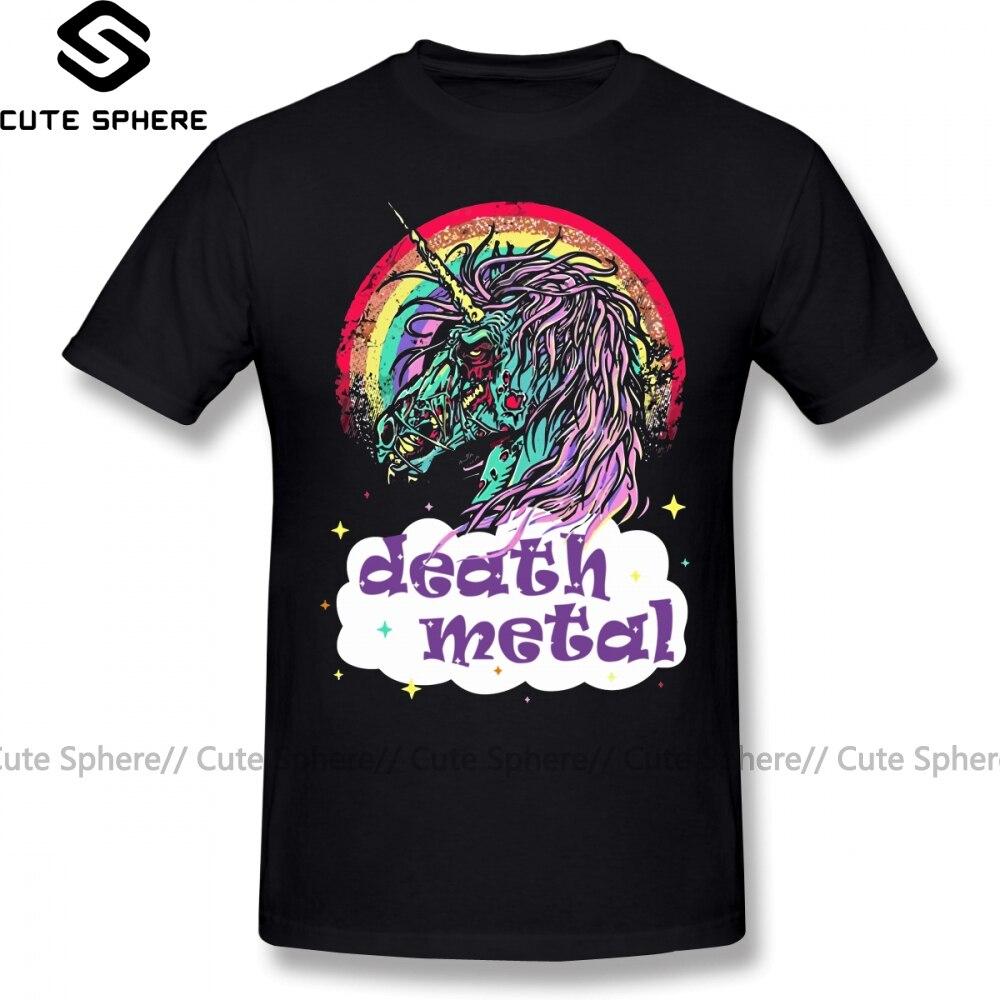 Zombie T Shirt Zombie Unicorn Death Metal T-Shirt Funny 100 Cotton Tee Shirt Fashion Big Graphic Men Short-Sleeve Tshirt
