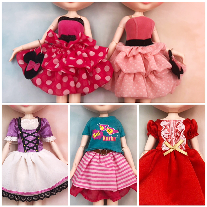 Blyth Doll Clothe Blyth Outfit Suit For 1/6 BJD Licca Body Suit Toy Girl Gift For Doll Customized