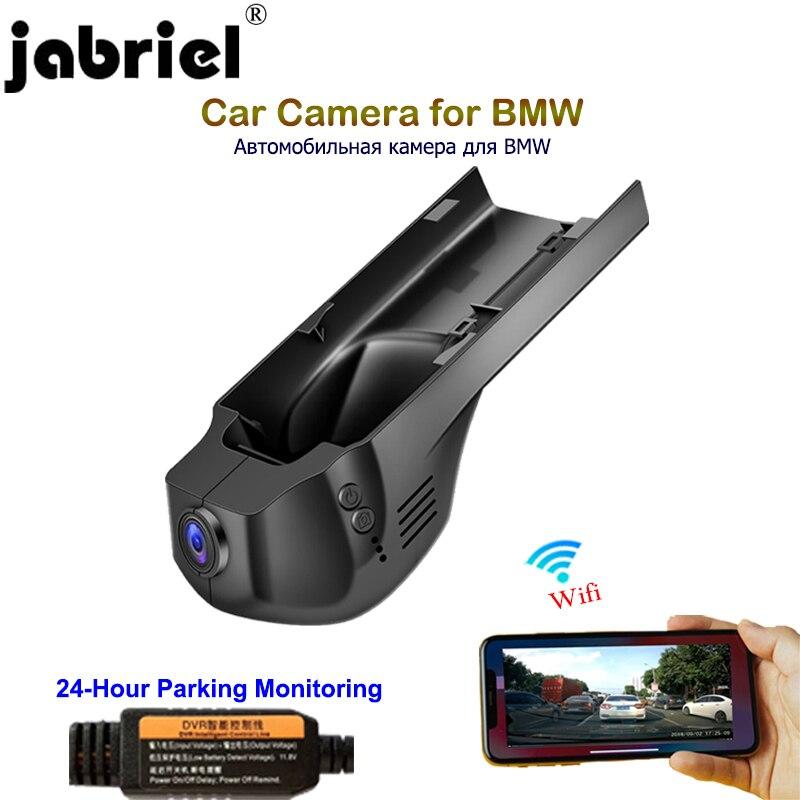 Jabriel 24 Hora gravador escondido 1080P câmera do carro dvr traço cam dupla lente para BMW 1/3/ 5/X1/X3/X5 f10 f15 f20 f25 f30 f40 g30 f48