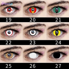 Pupil-Lens Color-Contact-Lenses Cosplay Decoration Eye-Halloween Beautiful Big for Variety