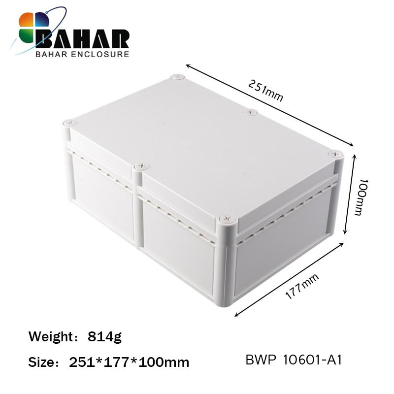 Black Plastic Cover Project Electronic Instrument Case Enclosure Box 100x60 Jn