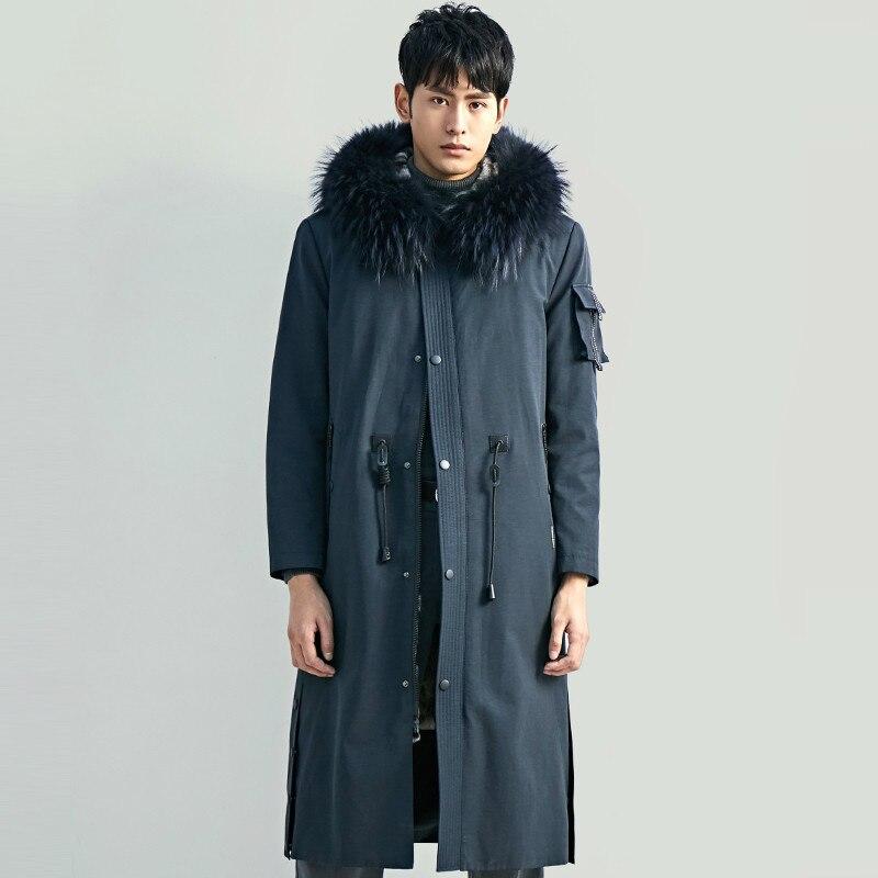 Real Fur Coat Men Real Mink Fur Coat Raccoon Fur Collar Winter Coat Men Real Fur Parka Mens Clothing 2020 Casaco YY1155