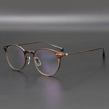 Titanium Brilmontuur Mannen OV1181 Retro Frame Merk Eye Bijziendheid Bril Frames Voor Mannen Ronde Bril