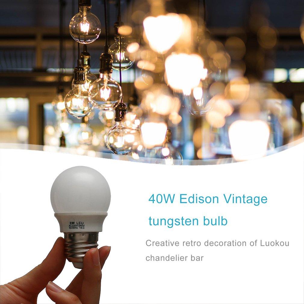 Vintage Retro Edison Bulbs Light Handmade Glass Industrial Style Tungsten Bulb Pendant Lamps Lighting