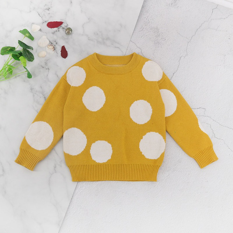 T-Shirts Sweater Spring Kids Top Clothing Autumn Girls Baby Boys Children Dot 18months-6years