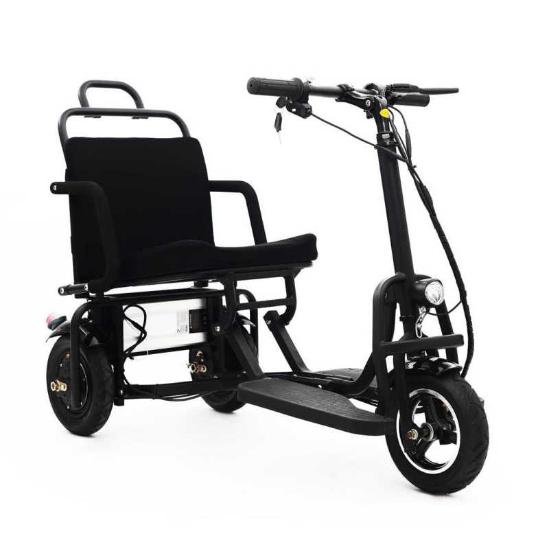 10 Inch Electric Tricycle Scooter Three Wheels Electric Scooters 36V/48V 300W/350W Disabled/Elderly Folding Electric Scooter