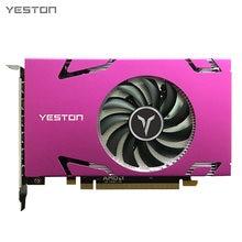 Yeston R7 350 4G D5 grafik kartı 6MINIDP 6-ekran desteği bölünmüş ekran 700/4500MHz 4G/128bit/GDDR5 6 Mini DP portları
