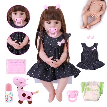 22inch 56CM reborn Toddler Girl Doll Full Body Soft Silicone Real Baby Size Bebe Doll Reborn Bath Toy For Kids Christmas Gifts cute bebe doll reborn toddler 55cm soft silicone reborn baby dolls soft body lifelike christmas girl gifts doll toy for children
