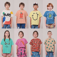 Boys T-shirts Kids O-Neck T-shirts Girls Short-sleeved Tops Cartoon T Shirts kids boutique clothes Children's Clothing 1-11Y